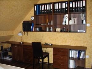 Dolgozószoba a hálóban sötét dióból