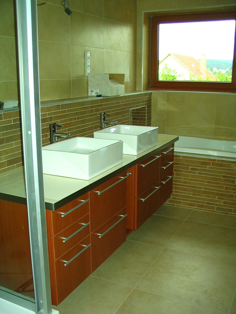 Fürdőszobabútor - dupla mosdós kombináció (2)