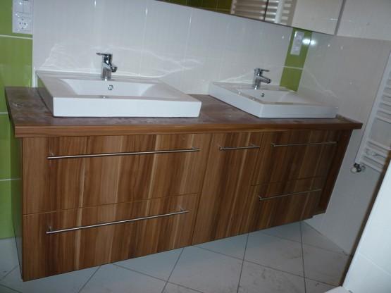 Fürdőszobabútor - dupla mosdós kombináció (3)
