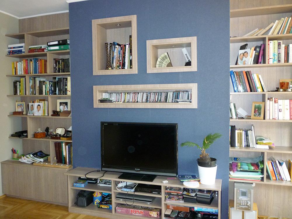 Nappali bútor falfülkékkel - nappali fal