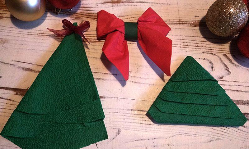 karácsonyi szalvétahajtogatás