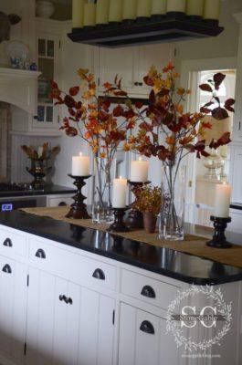 faágak a vazában - őszi dekoráció